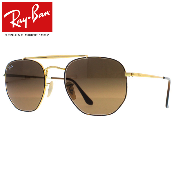 402af1f19a Ray-Ban Rayban Ray-Ban MARSHAL Marshal sunglasses gradient lens square men  gap Dis RB3648 910443 54 brown present gift commuting attending school