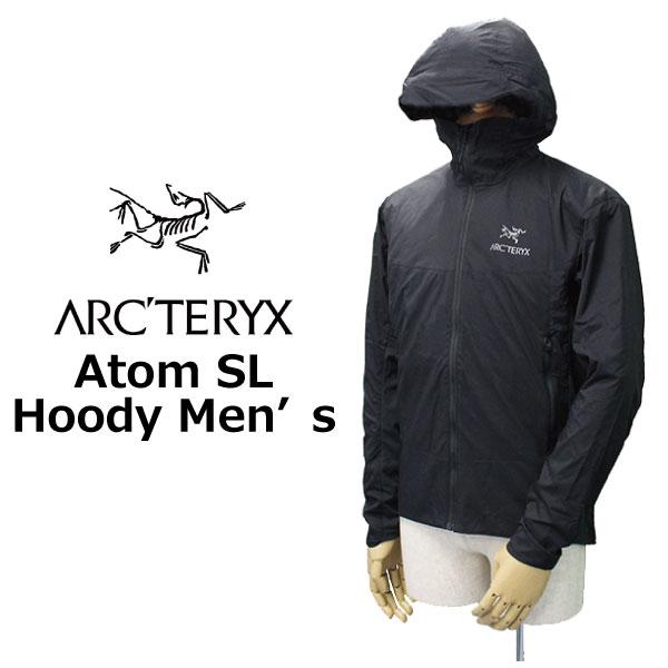 スーパーセールで使えるクーポン配布中!ARCTERYX アークテリクス Atom SL Hoody Men's アトム フーディ メンズ ジャケットパーカー 17305ブラック プレゼント ギフト 父の日 通勤 通学 送料無料