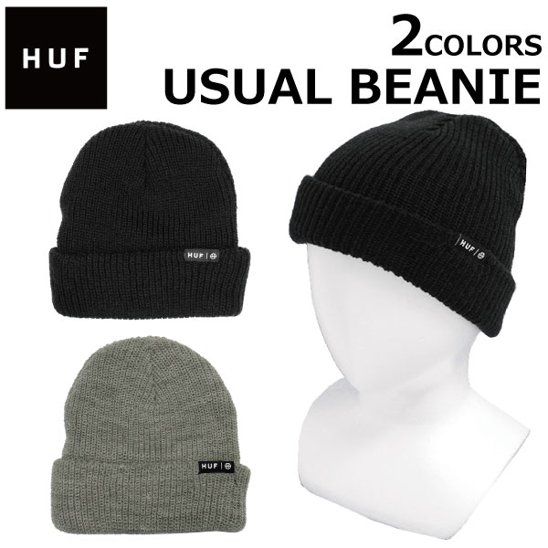f006610e8 Under summer sale holding! HUF Hough USUAL BEANIE ユーシャルビーニーロゴニット hat men  gap Dis BN00060 present gift goes to work until ...