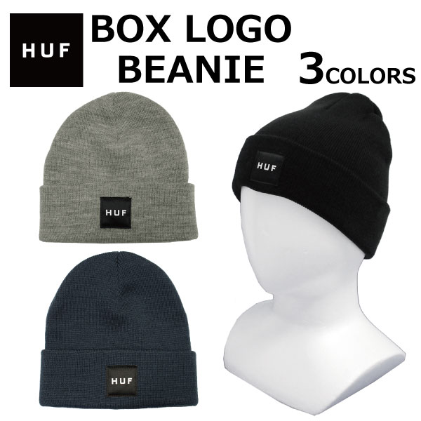 ae4c7b65b HUF Hough BOX LOGO BEANIE box logo beanie logo knit hat men gap Dis BN00070  present gift commuting attending school