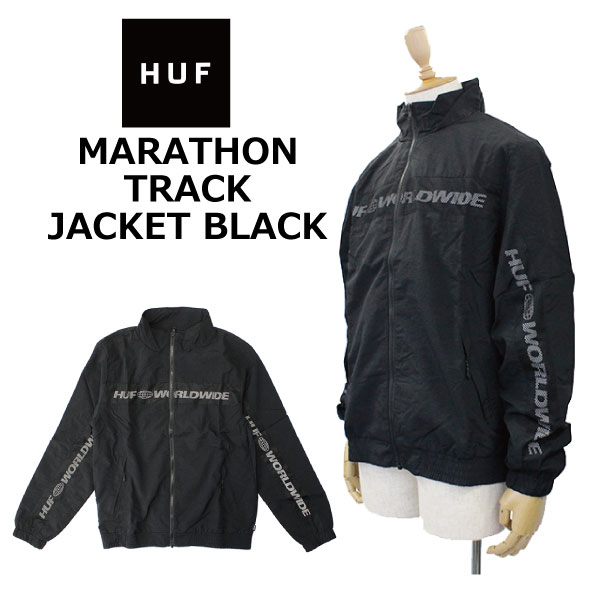 HUF ハフ MARATHON TRAC JACKET BLACK マラソン ジャケット プッフィ ジャケットダウンジャケット アウター 長袖 メンズ ブラック JK00156プレゼント ギフト 通勤 通学 送料無料