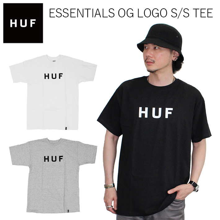 36731ffc4 HUF Hough ESSENTIALS OG LOGO S/S TEE essential logo Esstee T-shirt cut ...