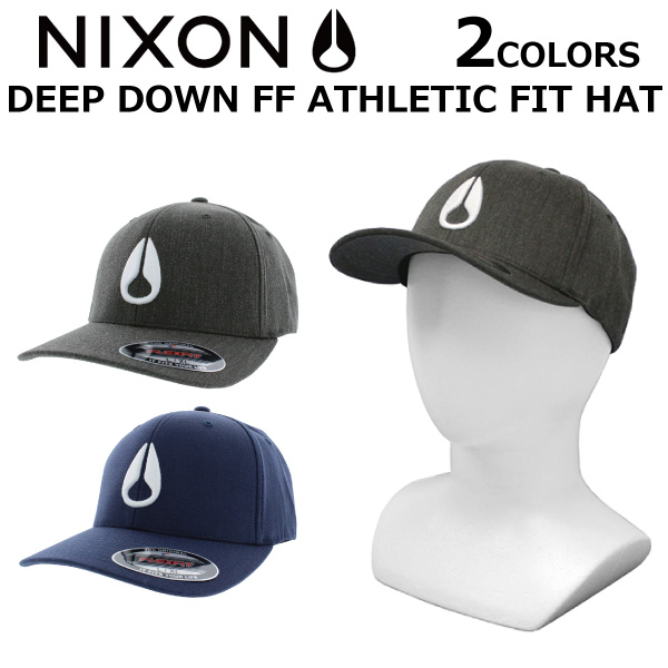 41a785954c9 NIXON Nixon DEEP DOWN FF ATHLETIC FIT HAT deep down athlete fitting hat cap  hat men gap Dis C1075 present gift goes to work and goes to school