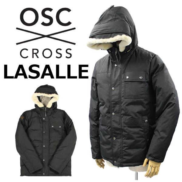 スーパーセールで使えるクーポン配布中!OSC CROSS オーエスシー クロス LASALLE ラサールダウンジャケット アウター フード ウールファー メンズ M02CX ミッドナイトブラックプレゼント ギフト 父の日 通勤 通学 送料無料