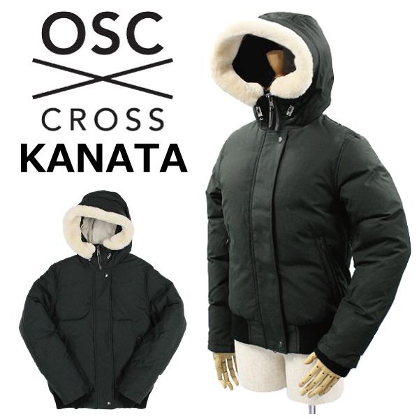 スーパーセールで使えるクーポン配布中!OSC CROSS オーエスシー クロス KANATA カナタダウンジャケット アウター フード ウールファー レディース ウィメンズ W36CX ブラックアウトプレゼント ギフト 父の日 通勤 通学 送料無料
