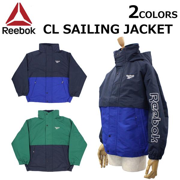 スーパーセールで使えるクーポン配布中!Reebok CLASSIC リーボック クラシック CL Sailing Jacket セイリング ジャケットアウター ウインドブレーカー スポーツ メンズ EJ8444 EJ8445プレゼント ギフト 父の日 通勤 通学 送料無料