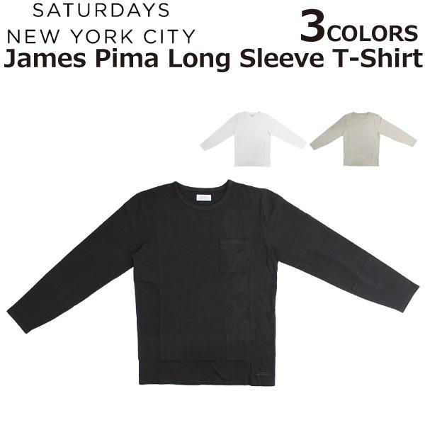 82c1c58a0a SATURDAYSNYCサタデーズサーフニューヨークシティ JamesPimaLongSleeveT-ShirtジェームスピマロングスリーブTシャツカットソー