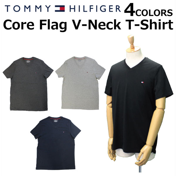 d3de3ec85 TOMMY HILFIGER トミーヒルフィガー Core Flag V-Neck T-Shirt core flag T- ...