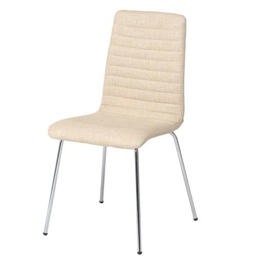 【カジュアル*】 シュクルチェアー アイボリー ファブリック 【ダイニングチェアー】 もこもこがかわいい椅子♪