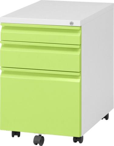 【オフィスアクセサリー】 インキャビネット ルイン グリーン 3段 【キャスター付きなので移動ラクラク♪】 ファイル収納♪書類収納♪