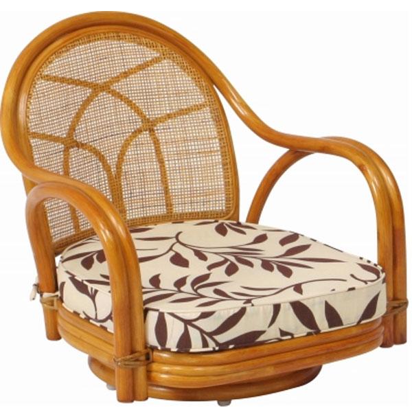 【座イス 回転椅子】ラタン 回転チェアー ロータイプ 【アジアンチェア】 回転式/回転イス/回転チェアー/ラタンチェア/椅子/イス/いす/低い