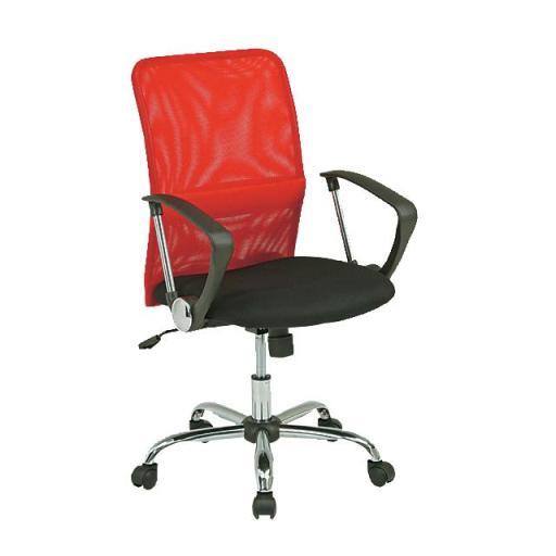 【オフィスチェア】 メッシュバックチェアー レッド 【ゆったり】 イス 赤 デスク用 02P03Dec16
