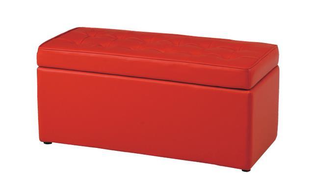 【レトロモダン*】 トランクベンチ N0549 レッド 【ボックスツール♪】 合成皮革 モダンな赤♪ 02P03Dec16