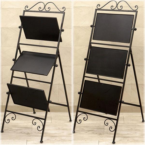 ブラックボードスタンド 北欧 黒板 おしゃれ アイアン メニューボード アンティーク 店舗 カフェ マグネットボード