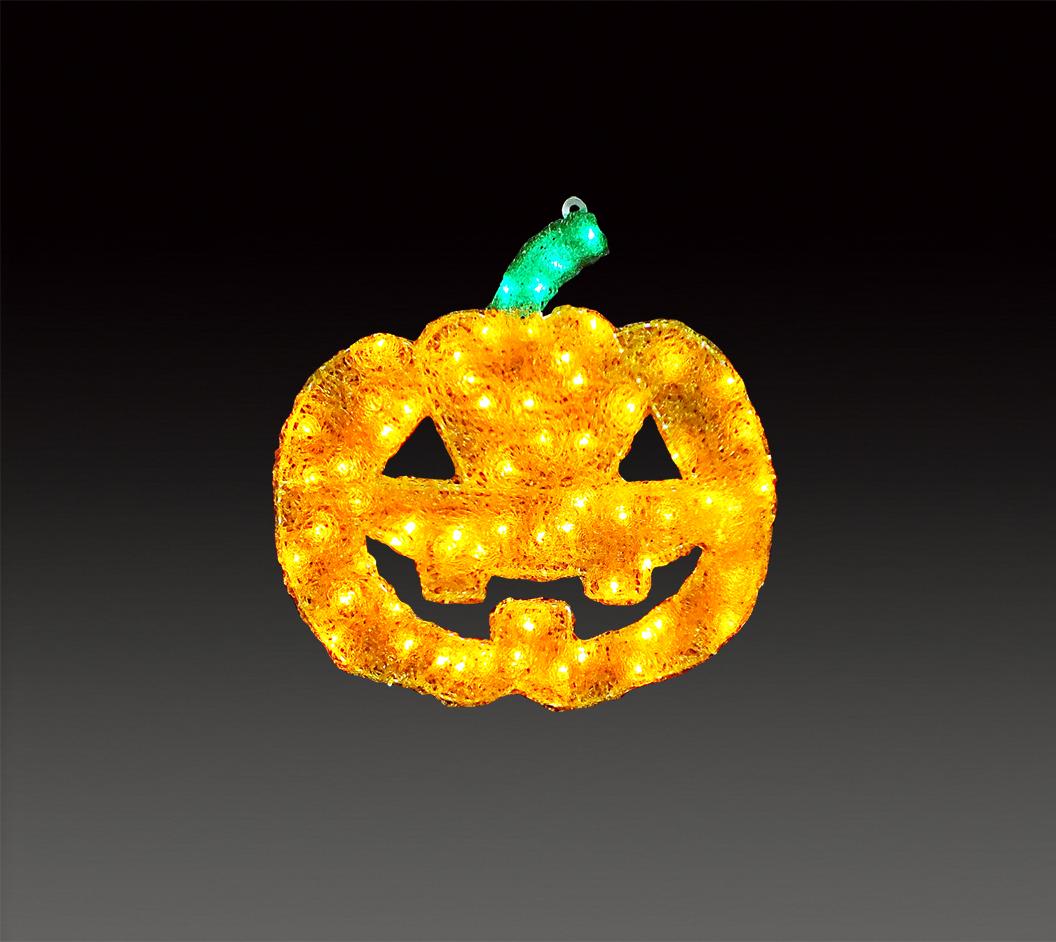 LEDイルミネーション 今だけスーパーセール限定 ハロウィーン 大特価!! モチーフ LEDクリスタルグロー 2Dパンプキン 小 W470mm × H460mm ハロウィン かぼちゃ 電飾 防雨仕様 100V 飾り 3.6W D20mm ライト