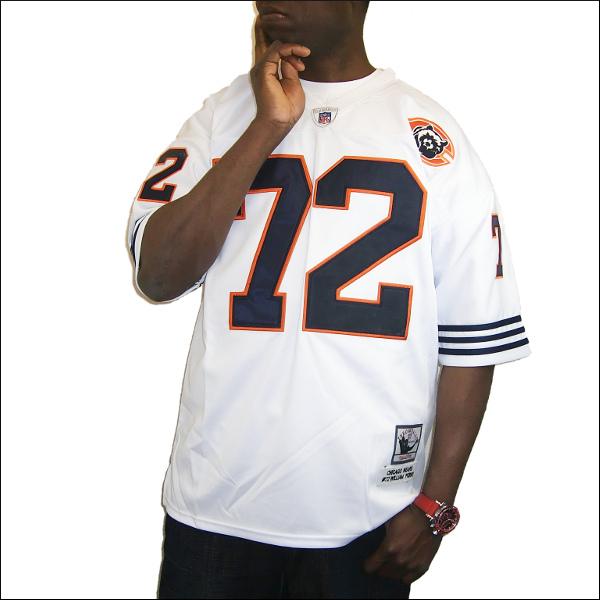 【全2色】CHICAGO BEARS replica フットボールシャツ/ #72【WILLIAM PERRY】フットボールジャージ ゲームシャツ 大きいサイズメンズ メンズ大きいTシャツ ヒップホップ衣装 ダンス 衣装 ジャージ