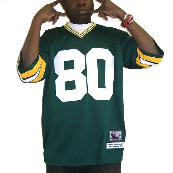 GREEN BAY PACKERS (グリーンベイ パッカース) nfl グッズreplica  フットボールシャツ #80【JAMES LOFTON】フットボールジャージ ゲームシャツ 大きいサイズメンズ メンズ大きいTシャツ ヒップホップ衣装