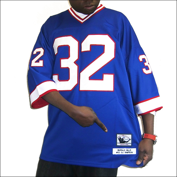 BUFFALO BILLS (バハロビルス) replica  フットボールシャツ #32【OJ SIMPSON】nfl グッズ フットボールジャージ ゲームシャツ 大きいサイズメンズ メンズ大きいTシャツ ヒップホップ衣装 ダンス 衣装 ジャージ