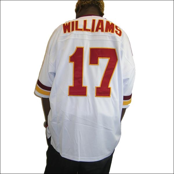 【全2色】WASHINGTON REDSKINS(ワシントンレッドスキン) replica  フットボールシャツ #17【DOUG WILLIAMS】フットボールジャージ ゲームシャツ 大きいサイズメンズ メンズ大きいTシャツ ヒップホップ衣装 ダンス 衣装 ジャージ