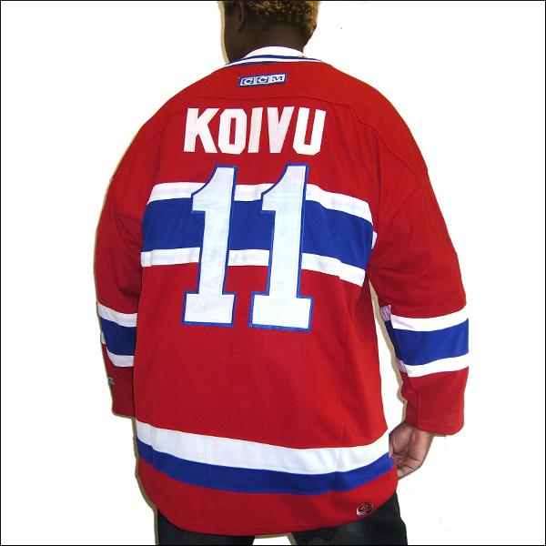 MONTREAL CANADIENS (モントレルカネディエンス) hockey jersey replica  アイスホッケーシャツ #11【KOIVU】アイスホッケー ゲームシャツ 大きいサイズメンズ メンズ大きいTシャツ ヒップホップ衣装 ダンス 衣装 ジャージ