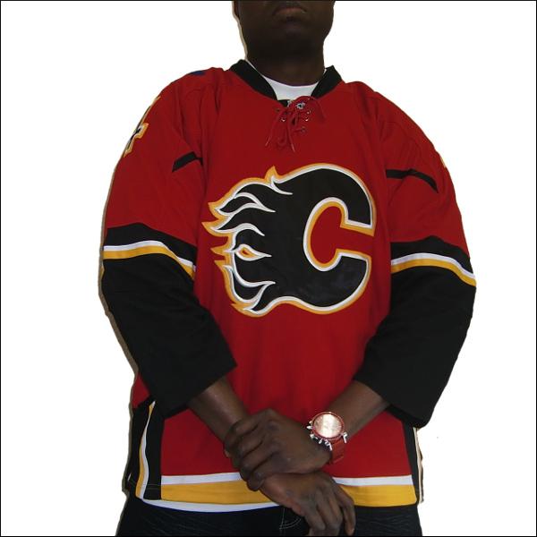 CALGARY FLAMES (カルガリーフレーム) replica  hockey jersey アイスホッケーシャツ #4【BOUWMEESTER】アイスホッケー ゲームシャツ 大きいサイズメンズ メンズ大きいTシャツ ヒップホップ衣装 ダンス 衣装 ジャージ
