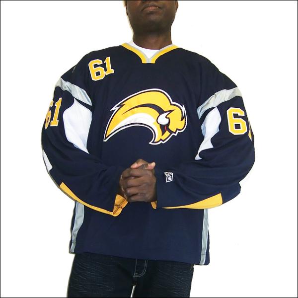 BUFFALO SABRES【バハロサブレス】 replica  アイスホッケーシャツ #61【AFINOGENOV】hockey jersey アイスホッケー ゲームシャツ 大きいサイズメンズ メンズ大きいTシャツ ヒップホップ衣装 ダンス 衣装 ジャージ