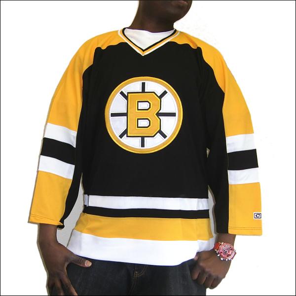 BOSTON BRUINS (ボストンブロインス) replica  アイスホッケーシャツ 【TEAM JERSEY】アイスホッケー ゲームシャツ 大きいサイズメンズ メンズ大きいTシャツ ヒップホップ衣装 ダンス 衣装 ジャージ