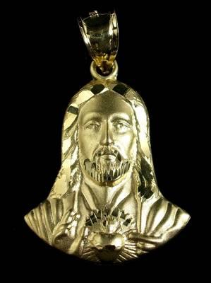 イエローゴールドペンダント JESUS HEAD