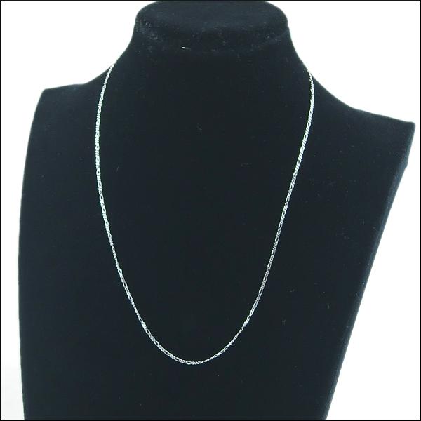 ホワイトゴールドチェーン ネックレス WHITE GOLDNECKLACE(ゴールドチェーン)男女兼用ネックレス ホワイトゴールドチェーン ネックレス