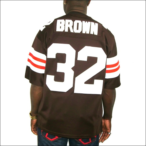 【全2色】CLEVELAND BROWNS replica  フットボールシャツ/ #32【JIM BROWN】