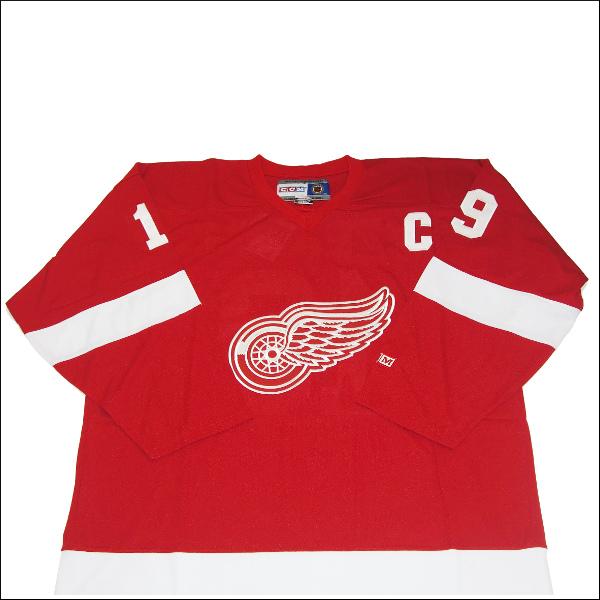 DETROIT 赤 WINGS (デトロイトレッドウィング) replica  hockey jersey アイスホッケーシャツ #19【YZERMAN】アイスホッケー ゲームシャツ 大きいサイズメンズ メンズ大きいTシャツ ヒップホップ衣装 ダンス 衣装 ジャージ