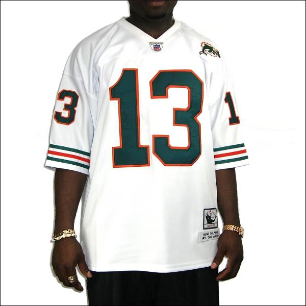 【全2色】MIAMI DOLPHINS replica  フットボールシャツ/nfl グッズ #13【DAN MARINO】