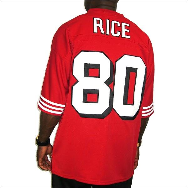 【全2色】SAN FRANCISCO 49ERS replica  フットボールシャツ/nfl グッズ #80【JERRY RICE】