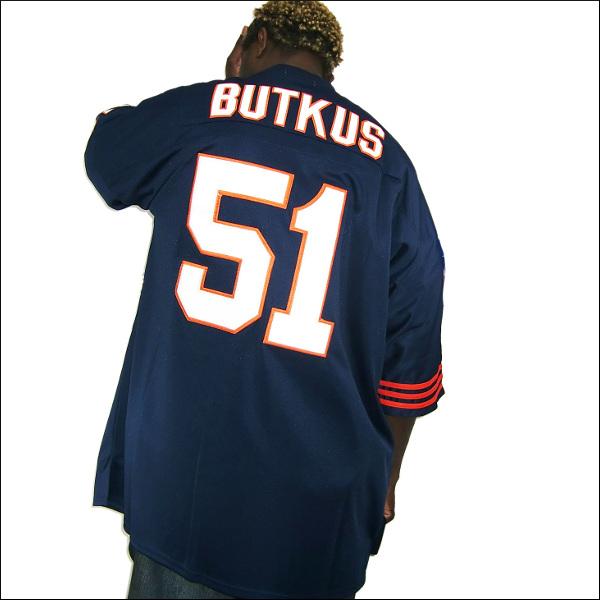(全2色)CHICAGO BEARS【チカゴベアース】 replica jersey/uniform フットボールシャツ/nfl グッズ #51【DICK BUTKUS】