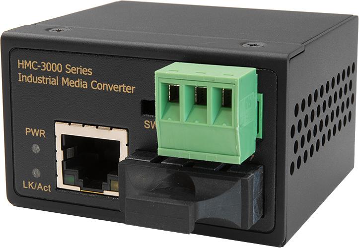 【送料無料:ハイテクインター公式オンラインストア】HMC-3000シリーズ[HMC-3130-SC-01](SC2芯 / 30km)産業用小型光メディアコンバータ