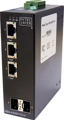 【送料無料:ハイテクインター公式オンラインストア】HES-4000-Hシリーズ[HES-4305P-F2-H]産業用GbE(ギガビットイーサネット)/PoE対応イーサネットスイッチ