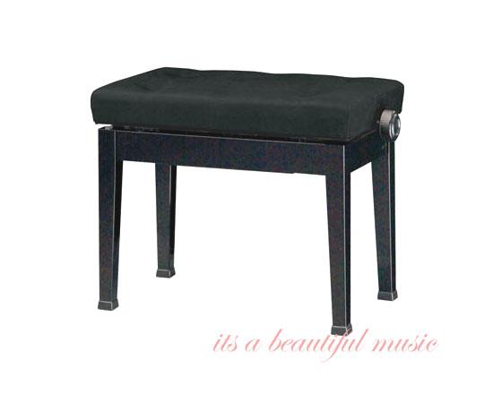 【its】信頼の日本製!ピアノ高低椅子 吉澤 Y-50(黒色)高級布張り座面