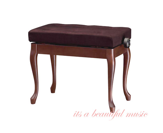 【its】信頼の日本製ピアノ椅子 吉澤 Y-50N(木目調3色より)・高級布張り座面/チッペンデール本猫脚