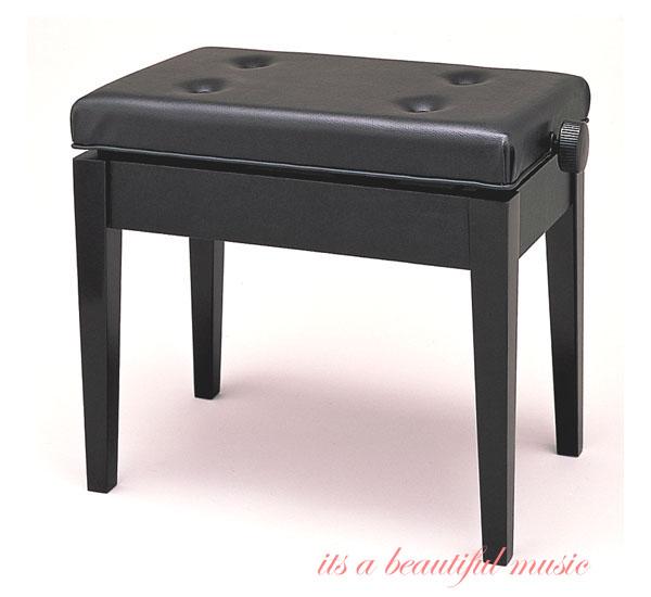 【its】ヤマハ・標準サイズの高低ピアノ椅子 YAMAHA No.45(No45)黒色
