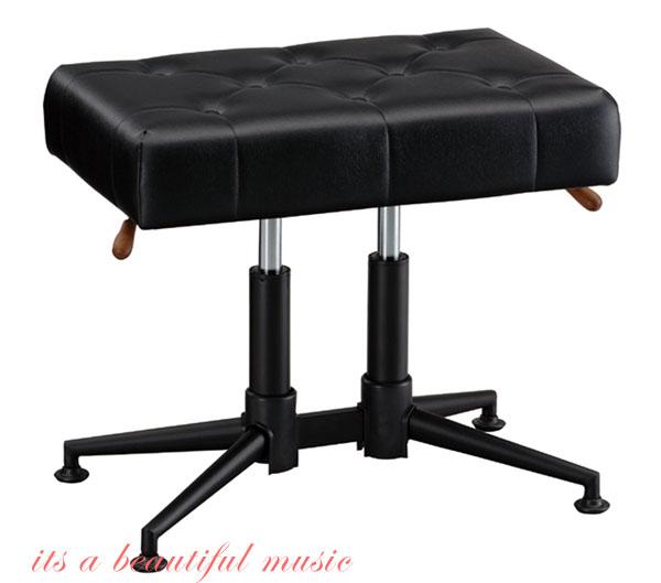 【its】新製品!ガススプリング式ピアノ椅子 GSP-DX(黒色)デラックス座面