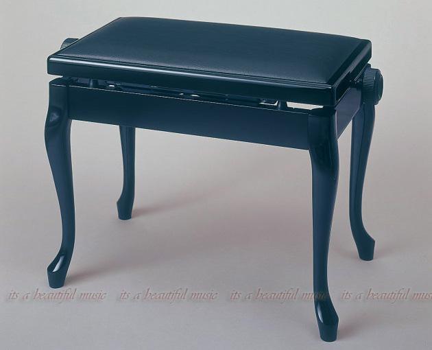 【its】シンプルな薄手座面とネコ脚が洗練されたイメージを演出!ピアノ椅子 イトマサADS(黒色)