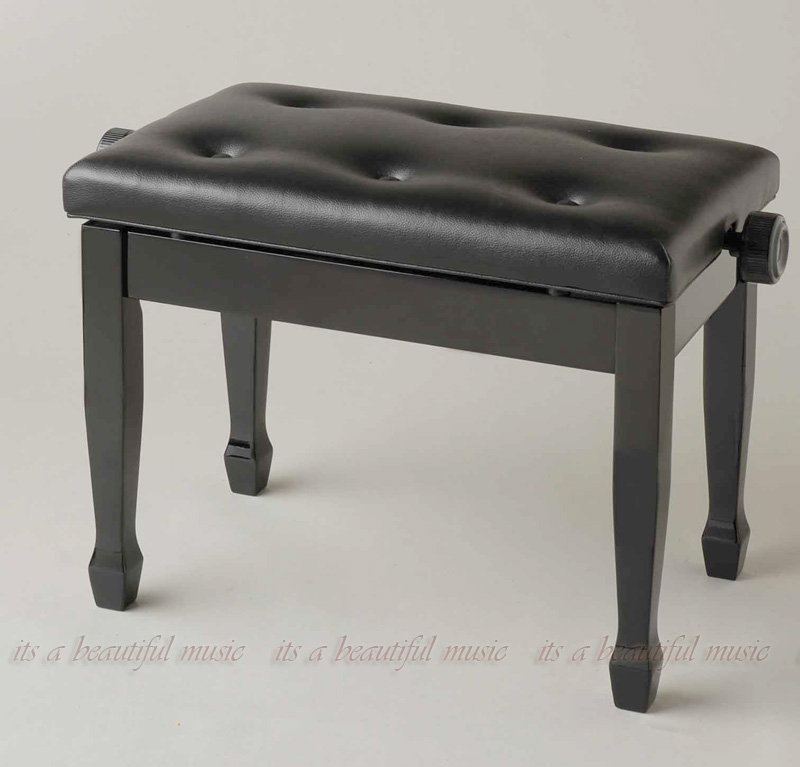 【its】おしゃれな笠脚が高級感を演出!ピアノ椅子 イトマサAEC(黒色)