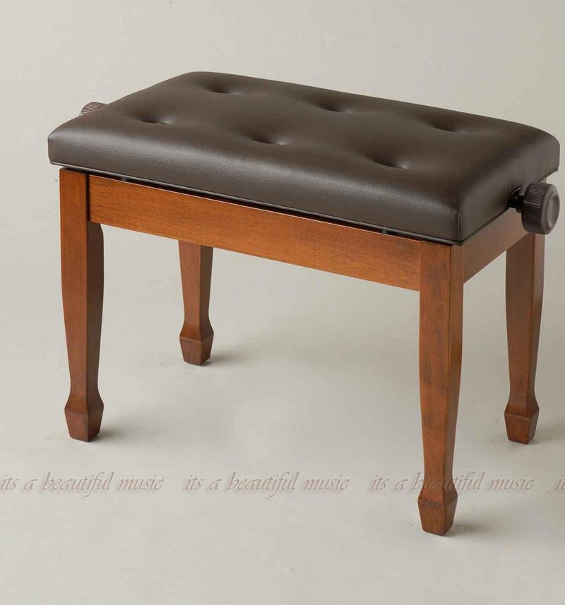 【its】半艶ウォルナット・優雅な笠脚タイプのピアノ椅子・イトマサAEC-W