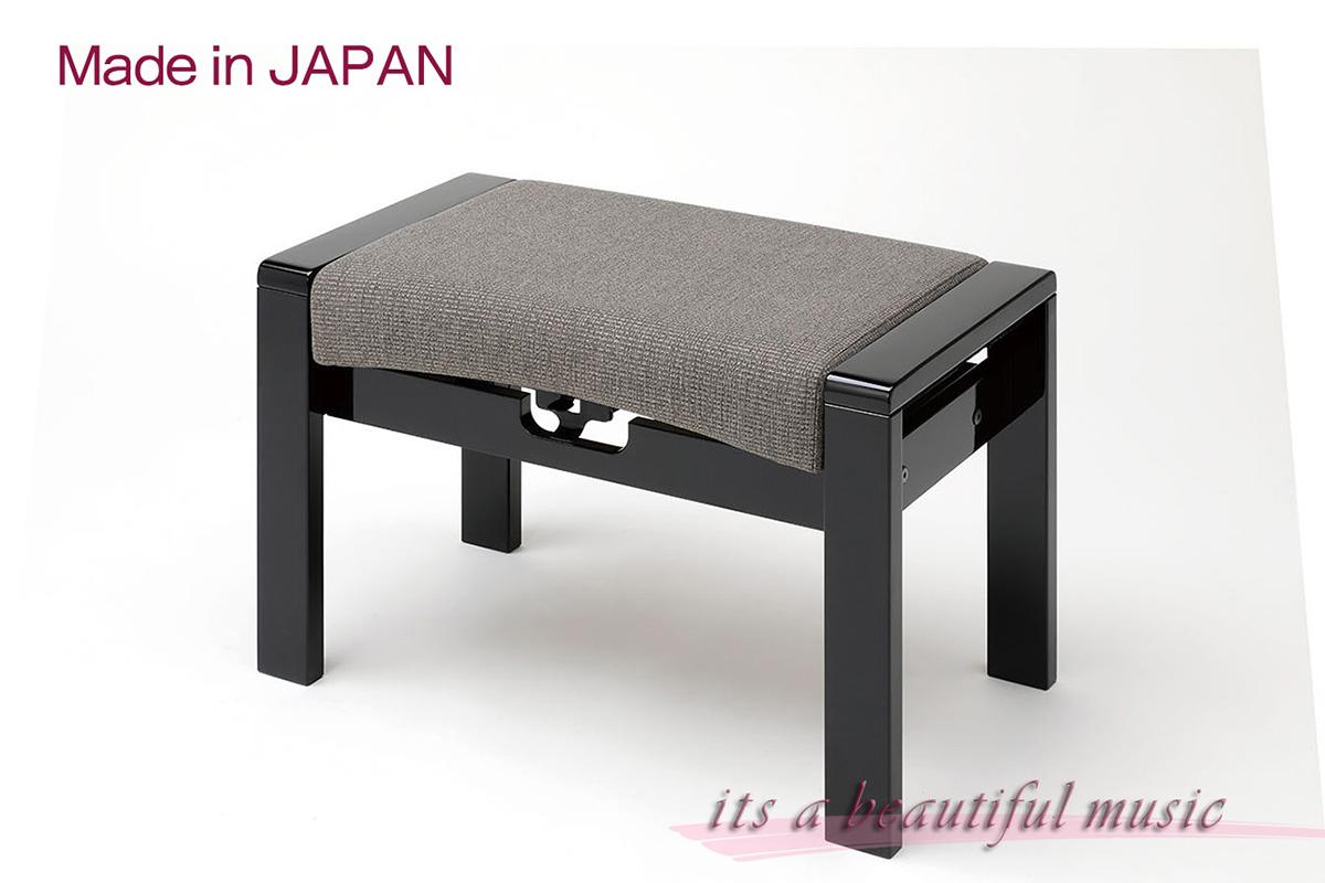 【its】職人技が生きる日本製!洗練されたデザインの布張りピアノ椅子 甲南Konan MK-70(MK70)黒色