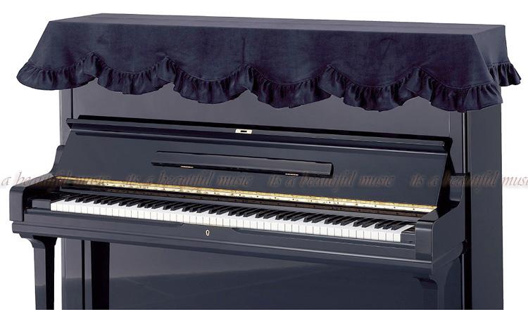 its 黒のピアノに黒のカバー 年間定番 シックなブラックベロア生地のピアノカバー 国内即発送 トップカバー