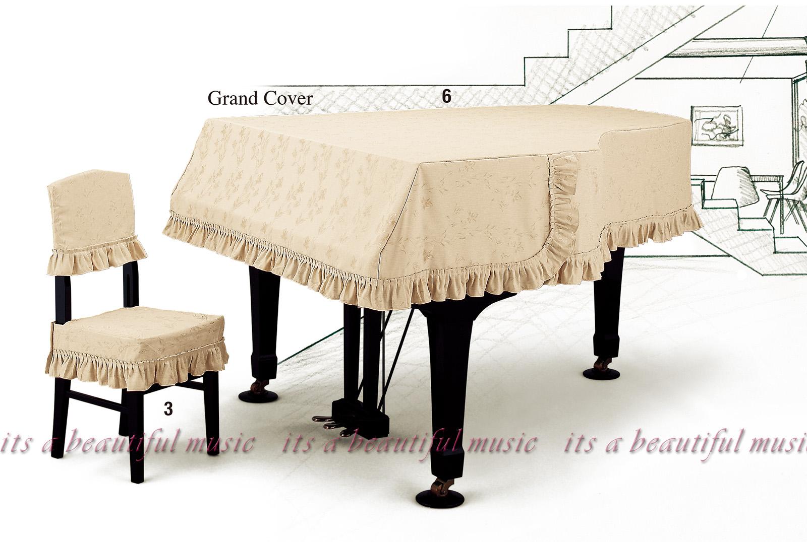 選びやすい商品配列、素材感が伝わる高詳細画像にリニューアル!有名3メーカー最新ピアノカバーをご紹介! 【its】レビューでもれなく高級クロス同梱!グランドピアノカバー アルプスG-EX「淡いベージュ生地に光沢のある小花柄」【奥行150~160cm未満/A1/GB1K/GM12/G-156等】(アルプスEXシリーズ)