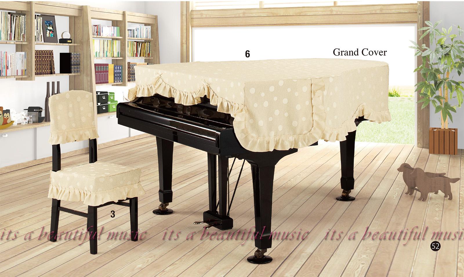 【its】レビューでもれなく高級クロス同梱!グランドピアノカバー アルプスG-MC「シンプルでかわいい水玉模様」【奥行150~160cm未満/A1/GB1K/GM12/G-156等】(アルプスMCシリーズ)