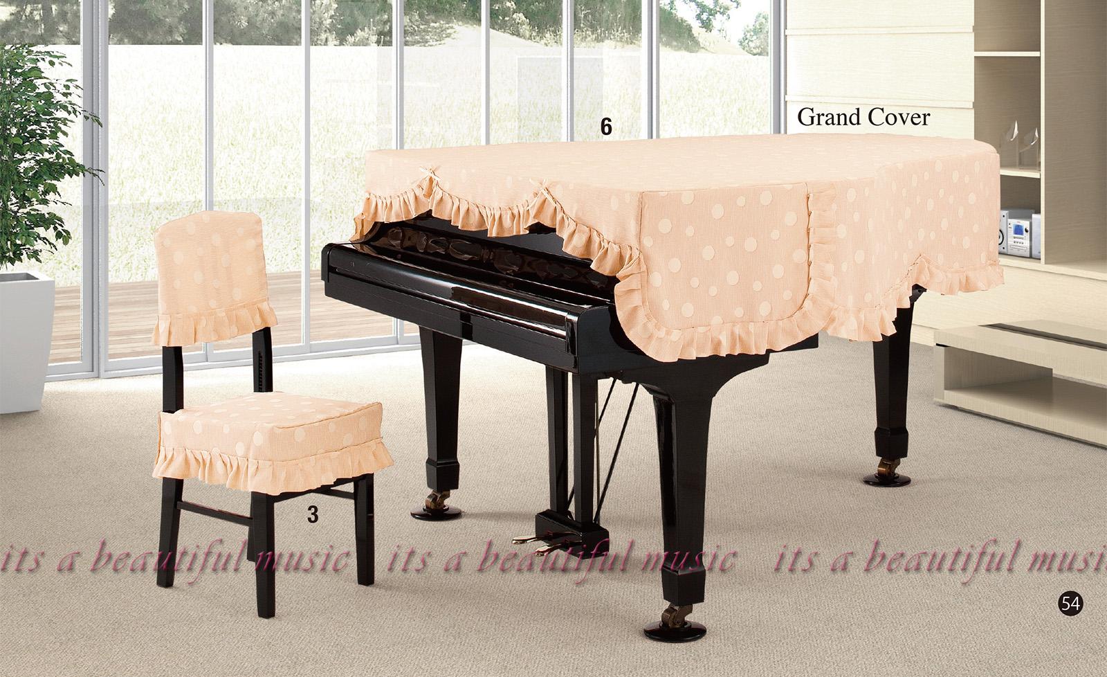 【its】レビューでもれなく高級クロス同梱!グランドピアノカバー アルプスG-MP「シンプルでかわいい水玉模様」【奥行150~160cm未満/A1/GB1K/GM12/G-156等】(アルプスMPシリーズ)
