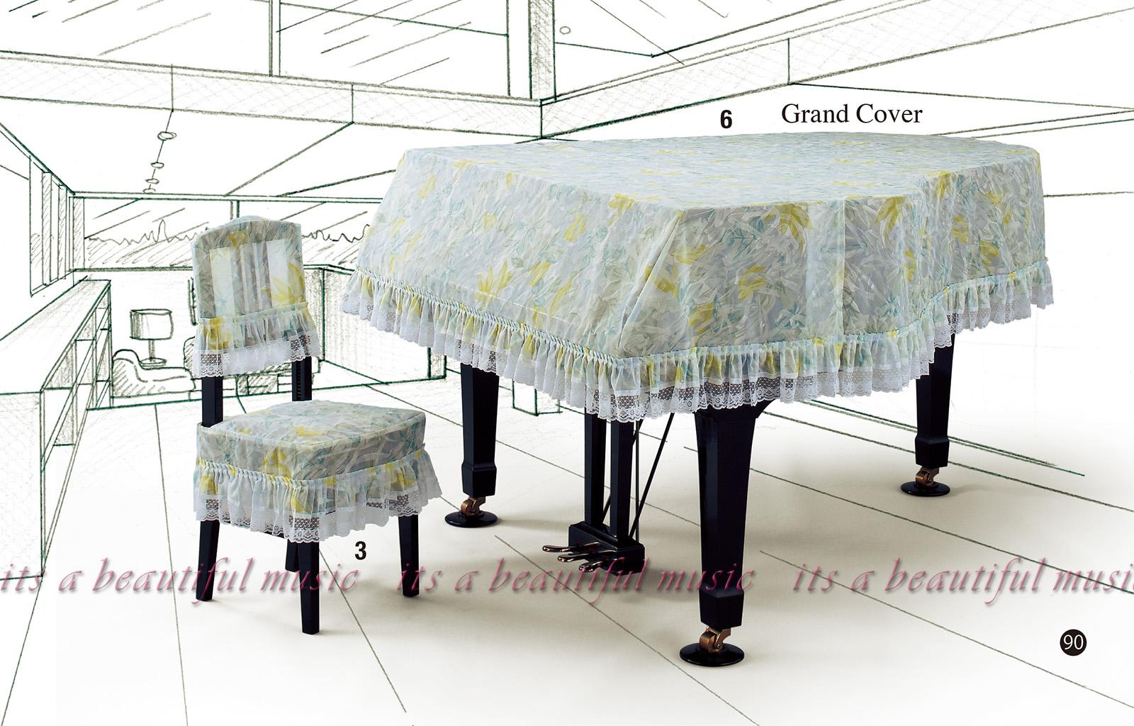 【its】レビューでもれなく高級クロス同梱!グランドピアノカバー アルプスG-SNL「アート柄プリントタイプのレース」【奥行150~160cm未満/A1/GB1K/GM12/G-156等】(アルプスSNLシリーズ)