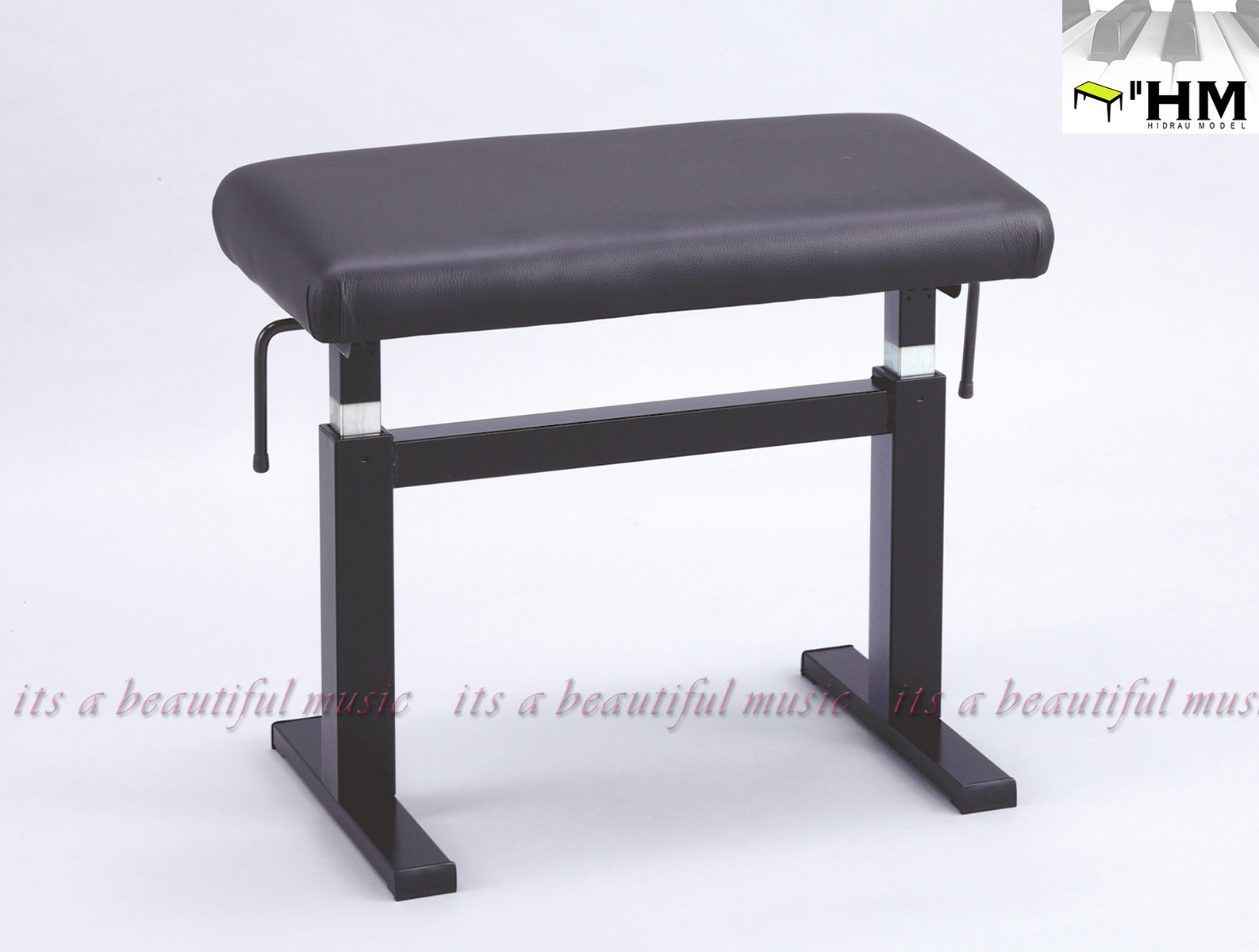 【its】スペイン/HIDRAU社 ガススプリング式高級輸入ピアノ椅子 BM-44H